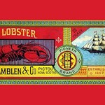 Pioneer Brand Fresh Lobster by Sun Litho Co. - Art Print