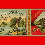 Puget Sound Salmon Can Label by Schmidt Litho Co. - Art Print