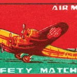 Air Mail Safety Matches - Art Print