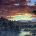 A Rural home by Frederic Edwin Church - Art Print