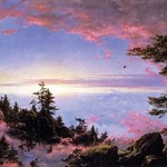 Above the clouds at sunrise by Frederic Edwin Church - Art Print