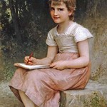 A Calling by William Bouguereau - Art Print