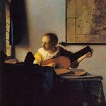 According to the Player by Johannes Vermeer - Art Print