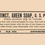 Tincture of Green Soap - Art Print