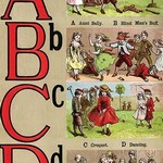A, B, C, D Illustrated Letters by Edmund Evans #4 - Art Print