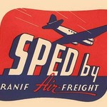 Sped by Branif Air Freight - Art Print