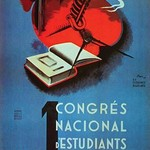 1st National Congress of Catalan Students. by Student Federation of Catalonia - Art Print