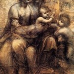 The Virgin and Child with St Anne and St John the Baptist by Leonardo da Vinci - Art Print
