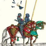 German Knights in Horseback in Procession by H. Burkmair 3 - Art Print
