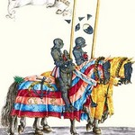 German Knights in Horseback in Procession by H. Burkmair 4 - Art Print
