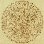 Celestial Map of the Mythological Heavens with Zodiacal Characters by Sir John Flamsteed - Art Print