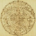 Celestial Map of the Mythological Heavens with Zodiacal Characters by Sir John Flamsteed #2 - Art Print