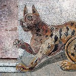 Ancient Tile Cat - Art Print