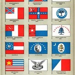 Southern Flags 1861-64 - Art Print
