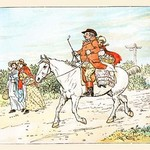 A Farmer Went a Trotting on His Gray Mare by Randolph Caldecott - Art Print