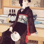 Beer with the Lady - Art Print