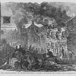 After Bombing of Fredericksburg, troops occupy by Frank Leslie - Art Print