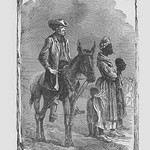 African American Slaves with a Farmer by Frank Leslie - Art Print