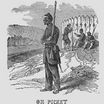 African Americans as Pickets by Frank Leslie - Art Print