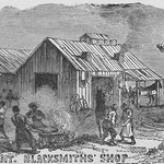 African Americans as blacksmiths by Frank Leslie - Art Print
