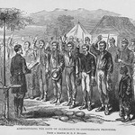 Administering the Oath of Office to Confederate Prisoners by Frank Leslie - Art Print