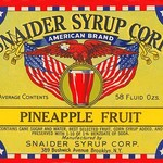 Snaider Syrup Corp. Pineapple Fruit - Art Print