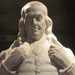 Benjamin Franklin statue at National Portrait Gallery by Billy Hathorn - Art Print