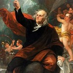 Benjamin Franklin Drawing Electricity from the Sky by Benjamin West - Art Print
