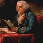 Benjamin Franklin by David Martin - Art Print