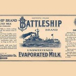 Battleship Brand Unsweetened Evaporated Milk - Art Print