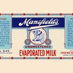 Mansfield's Unsweetened Evaporated Milk - Art Print