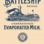 Battleship Brand Unsweetened Evaporated Milk #2 - Art Print