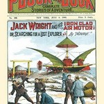 Jack Wright and His Iron Clad Air Motor - Art Print
