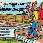 All Tracks Lead to Greater Chicago! - Art Print