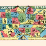 Nicknames of the States - Art Print