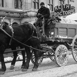 Carting Snow from New York Streets by Horse & Wagon - Art Print