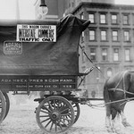 Horse & Wagon with sign saying that it is being used in Interstate Commerce Only - Art Print