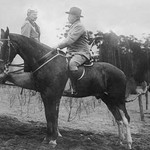 Theodore Roosevelt Greets the German Kaiser, both on horseback in Germany - Art Print