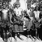 Zulu Warrior Tribesmen with Spears and Shields - Art Print