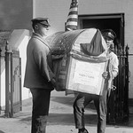 Harding Turkey Delivered to the White House - Art Print