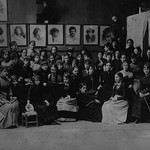 Academie Julian, Paris, group of art students - Art Print