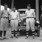 Baseball Players Ty Cobb, Milan, Johnson, Eddie Black - Art Print
