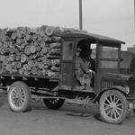 District of Columbia Paper Company is getting a Delivery of Logs from which to manufacture Paper - Art Print