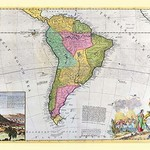Antique Map of South America by Hermann Moll - Art Print