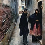 A Street in Venice by John Singer Sargent - Art Print