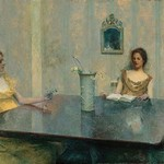 A Reading by Thomas Wilmer Dewing - Art Print