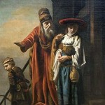 Abraham Dismissing Hagar and Ishmael by Nicolaes Maes - Art Print
