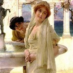 A Difference of Opinion by Sir Lawrence Alma-Tadema - Art Print