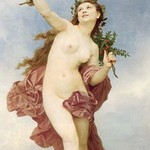 A Female as Day by William Bouguereau - Art Print