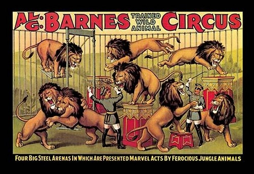 Al G. Barnes Trained Wild Animal Circus - Art Print